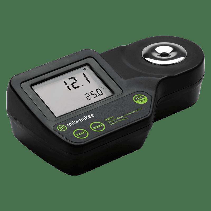 Milwaukee MA873 (рефрактометр для измерения глюкозы по шкале весовых % глюкозы (%w/w)) вид сбоку