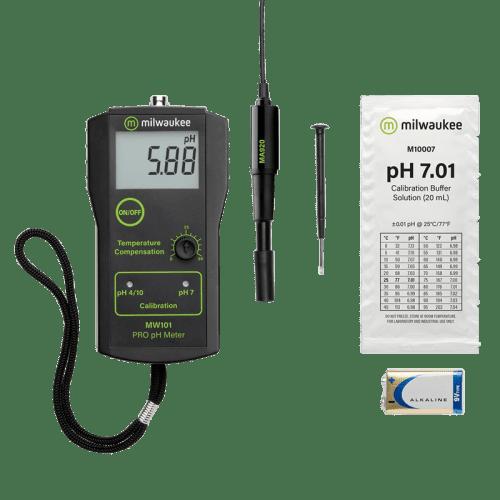 Milwaukee MW101-SOIL (pH метр для измерения кислотности почвы) комплектация