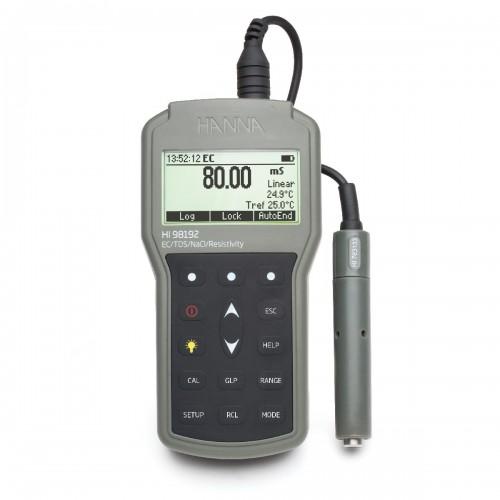 HANNA Instruments HI98192 кондуктометр/TDS/NaCl-метр с измерением удельного сопротивления (ГосРеестр)