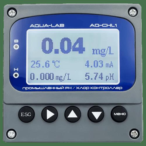 AQUA-LAB AQ-CHL1 цифровой промышленный контроллер рН и хлора с электродом AQ-CHL1-EL3
