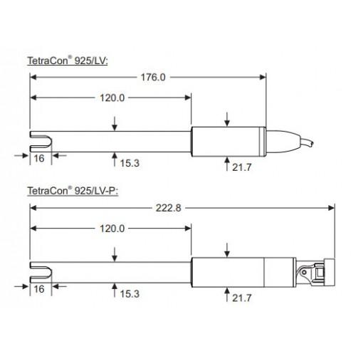 WTW TetraCon 925 цифровой 4х-электродный датчик, 1 м