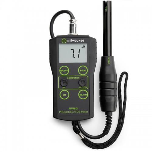 Milwaukee MW801 PRO 3 в 1 pH EC TDS метр с АТС низкий диапазон солей