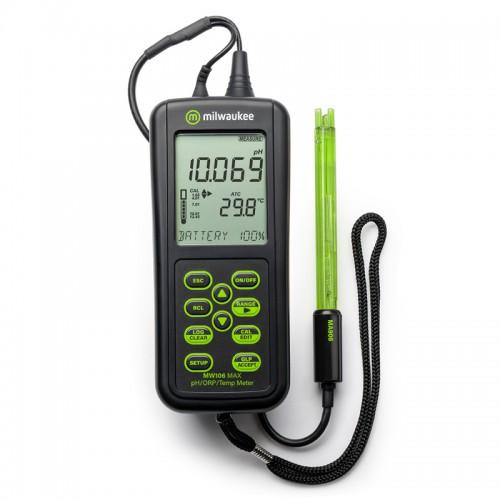 Milwaukee MW106 MAX высокоточный pH/ОВП/°С метр с выгрузкой данных на ПК