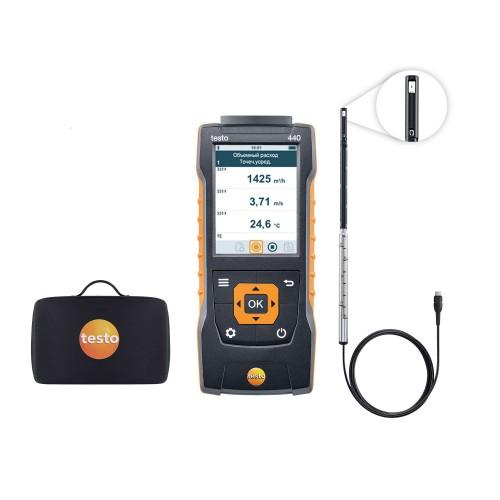 Комплект для измерения скорости и оценки качества воздуха в помещении TESTO 440 с обогреваемой струной (ГосРеестр)