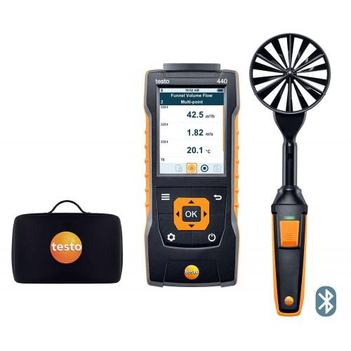 Комплект для измерения скорости и оценки качества воздуха TESTO 440 с Bluetooth и крыльчаткой 100 мм (ГосРеестр)