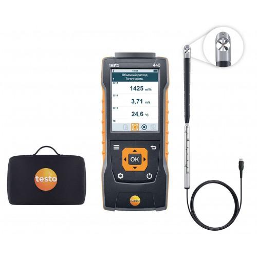 Комплект для измерения скорости и оценки качества воздуха TESTO 440 с крыльчаткой 16 мм (ГосРеестр)