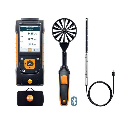 Комплект для измерения скорости и оценки качества воздуха TESTO 440 для вентиляции № 1 с Bluetooth (ГосРеестр)