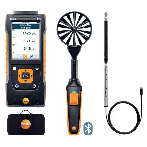 Комплект для измерения скорости и оценки качества воздуха TESTO 440 для вентиляции № 2 с Bluetooth (ГосРеестр)