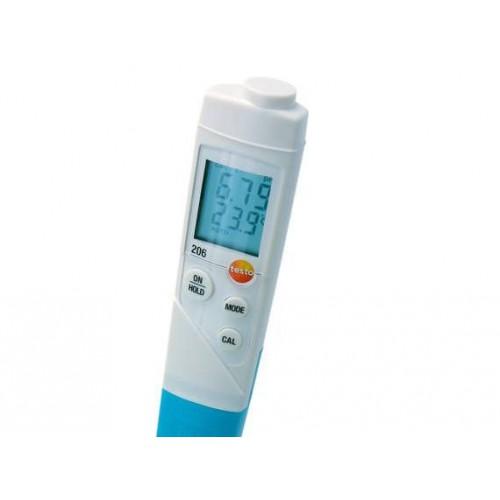 Стартовый комплект TESTO 206-pH2 карманный pH-метр (ГосРеестр) с принадлежностями