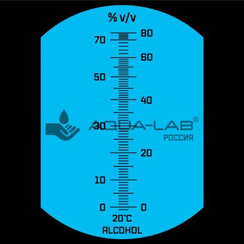 рефрактометр AQUA-LAB AQ-REF-ALC1 шкала прибора