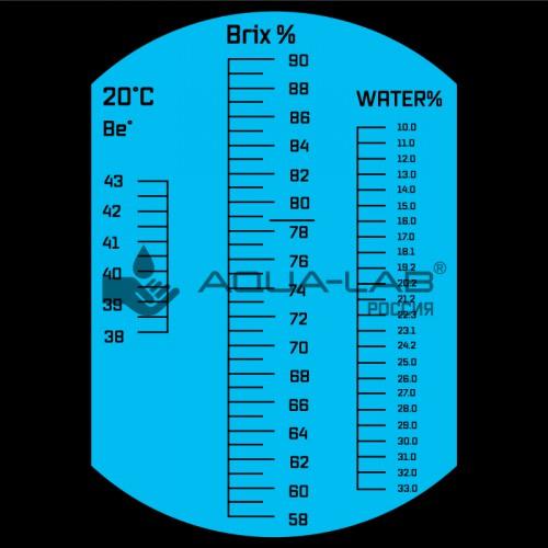 рефрактометр AQUA-LAB AQ-REF-HON1 шкала измерения