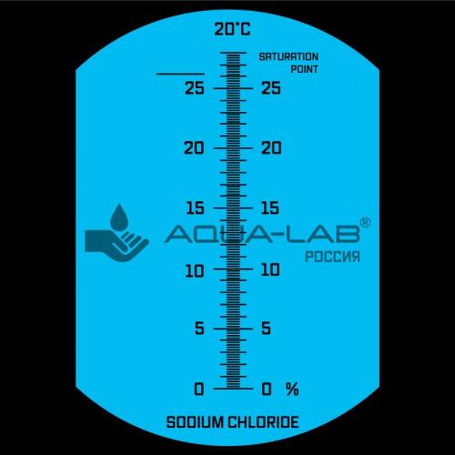 рефрактометр AQUA-LAB AQ-REF-SAL2 шкала измерений