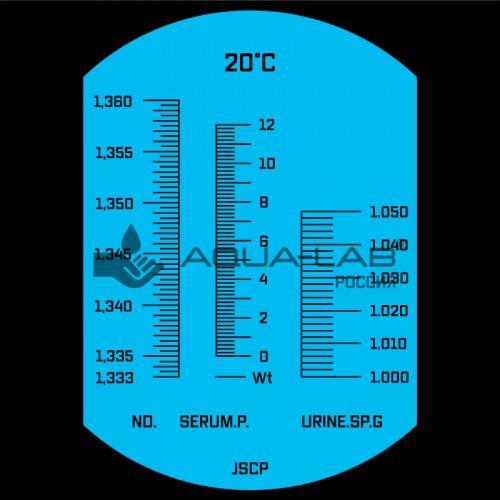 рефрактометр AQUA-LAB AQ-REF-PROT1 шкала измерения