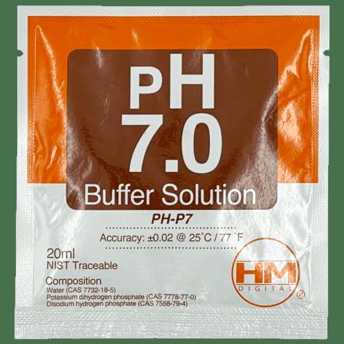 HM Digital pH 7.0 20 мл калибровочная жидкость для pH метров