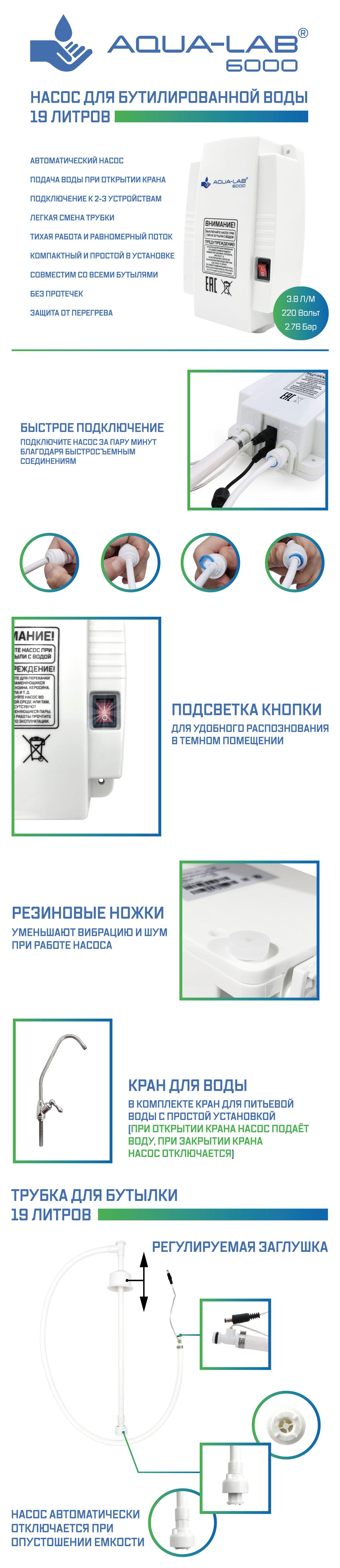 описание насоса aqua-lab aq-6000 1ч
