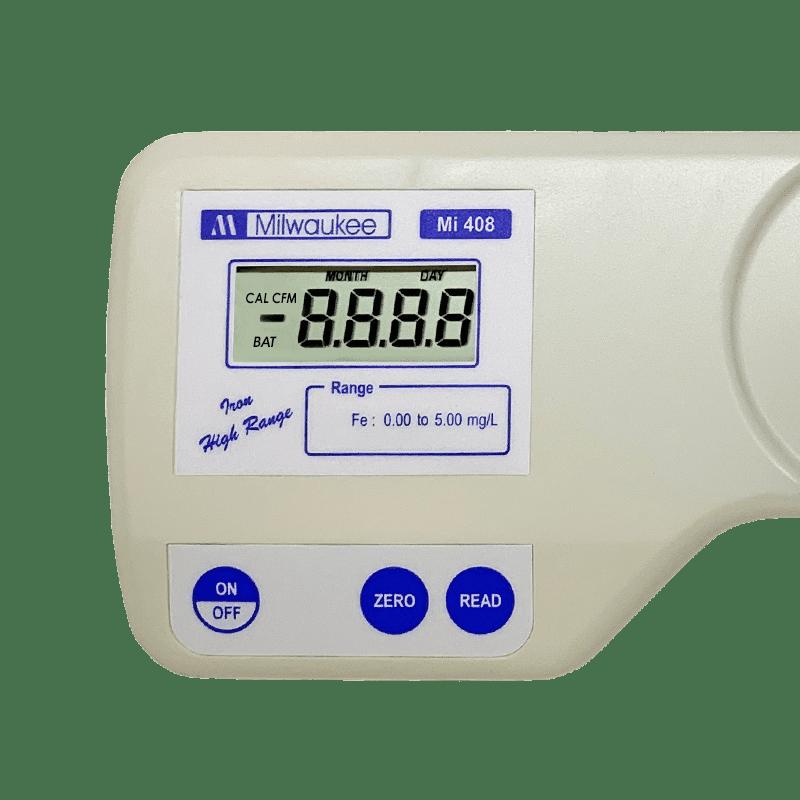 Дисплей и органы управления измеритель железа в воде Milwaukee Electronics Mi408