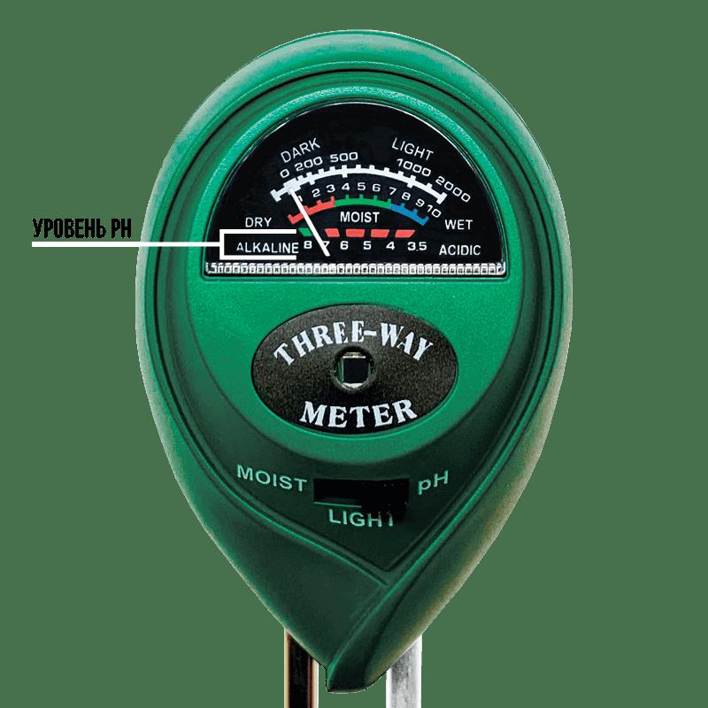 ETP307 измеряет уровень pH в почве